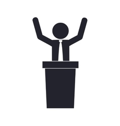 Businessman pictogram business icon vector