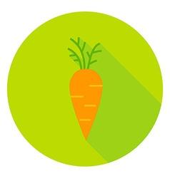 Carrot vegetable circle icon vector