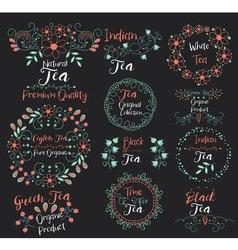 Ceylon Tea Pure OrganicGreen ProductIndian vector image vector image