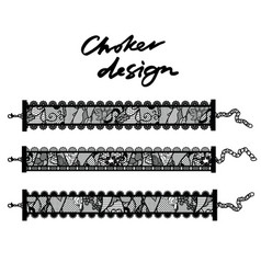 choker design collection of chokers vector image vector image