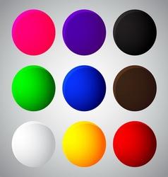 colorful balls web button icon vector image vector image