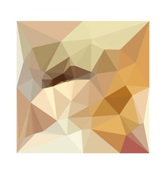 Corn yellow beige abstract low polygon background vector