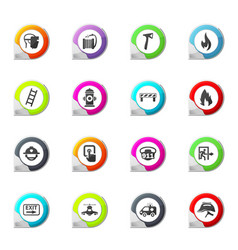 emergency icons set vector image vector image