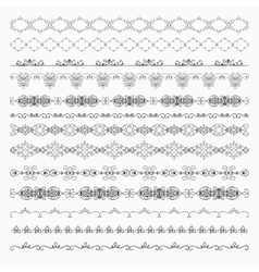 Hand Drawn Tileable Line Borders Dividers vector image