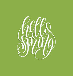 Hello spring lettering inspirational typography vector