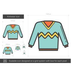 Knitwear line icon vector