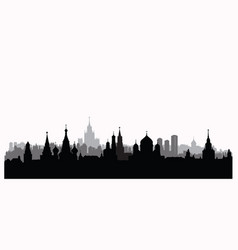 moscow city buildings silhouette russian urban vector image vector image