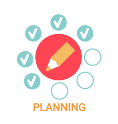 Planning icon business strategy development banner vector