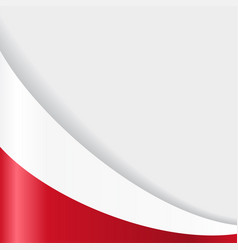 Polish flag background vector