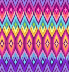 rainbow ikat pattern vector image