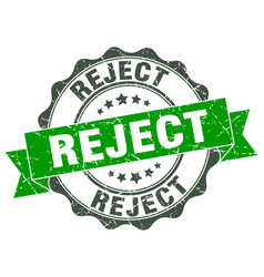 Reject stamp sign seal vector
