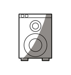 Speaker sound audio appliance shadow line vector