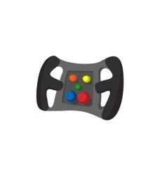 Steering wheel cartoon icon vector