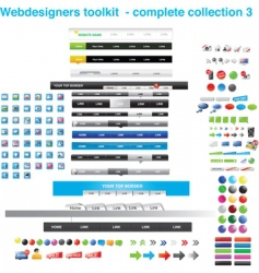 web designer's toolkit vector image vector image