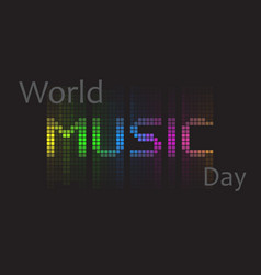 world music day vector image vector image