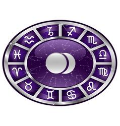zodiac oval vector image
