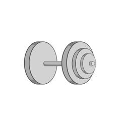 Heavy dumbbell icon black monochrome style vector