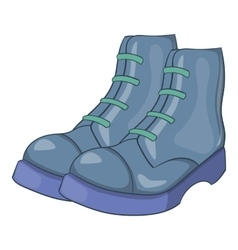 Mens boots icon cartoon style vector