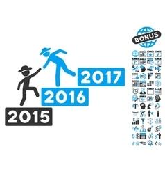Annual Gentleman Help Flat Icon With Bonus vector image