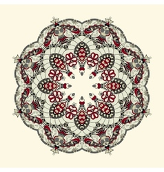 Ornamental lace pattern circle vector