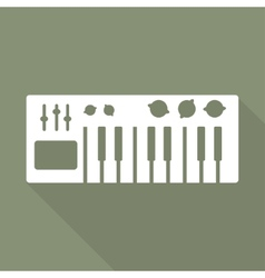 Digital piano synthesizer icon vector