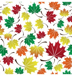 Colorful leaves seamless pattern eps10 vector