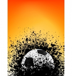 Football grunge poster orange light vector