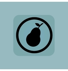 Pale blue pear sign vector