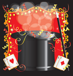 Magic magician birthday vector