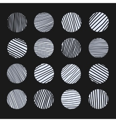 Set of scratched circles texture vector
