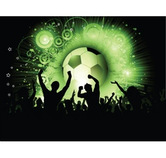 football crowd vector image