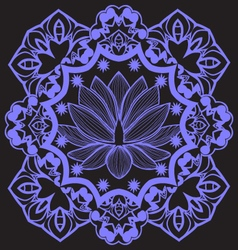Mandala with indian lotus beautiful background vector