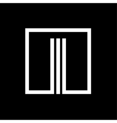 I capital letter made of stripes enclosed in a vector