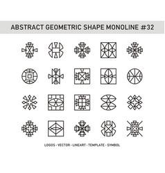 Abstract geometric shape monoline 32 vector