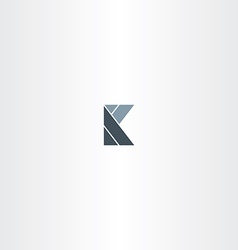 abstract letter k logotype sign stylized vector image