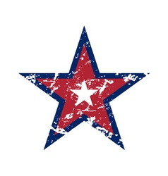 American flag star grunge element symbol vector image