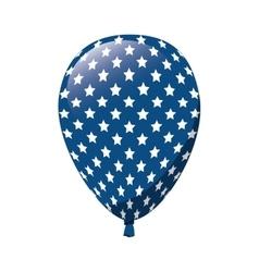 Balloon america flag usa vector