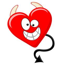 Cartoon Like Of Evil Heart vector image vector image