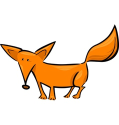 Cartoon of red fox vector
