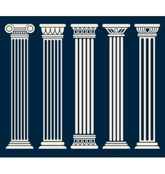 Classic roman greek architecture columns vector