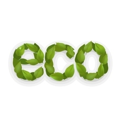 Eco green design ecology abstract element vector