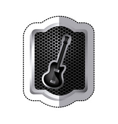 emblem electric guitar icon vector image vector image