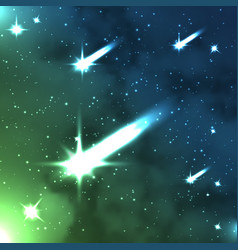 Falling stars space background vector
