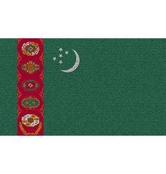 Flags turkish northern cyprus on denim texture vector