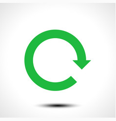 Green arrow icon reload refresh rotation reset vector