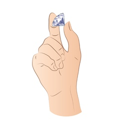 Hand With Diamond vector image vector image