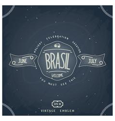 Handmade brazilian emblem on chalkboard vector