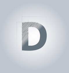 Letter d logo alphabet logotype architectural vector
