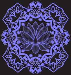 mandala with Indian Lotus beautiful background vector image