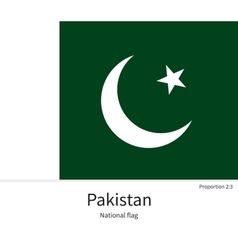 National flag of pakistan with correct proportions vector